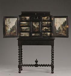 Cabinet painted by Isaac van Oosten (1613 - 1661) Antwerp, c. 1640