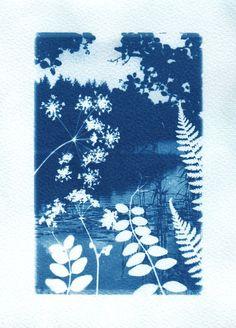 iconic <3 blue & white - Folkloric fairytale cyanotype: