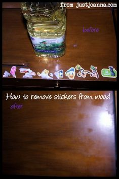How to Remove Stickers from Wood – Without Scratches!