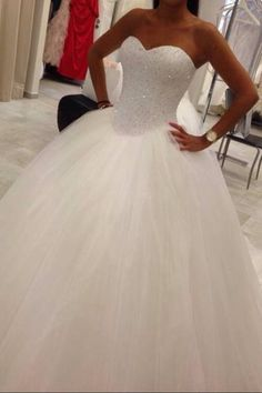 Wonderful Perfect Wedding Dress For The Bride Ideas. Ineffable Perfect Wedding Dress For The Bride Ideas. Tulle Wedding, Dream Wedding Dresses, Bridal Dresses, Bridesmaid Dresses, Ivory Wedding, Princess Ballgown Wedding Dress, Wedding Dress Sparkle, Luxury Wedding, Cinderella Wedding Dresses
