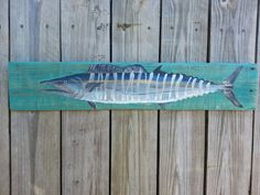 Wahoo Fish Painting on Reclaimed Wood by DestinyReclaimed on Etsy