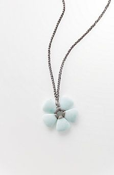 semiprecious flower pendant necklace
