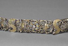 Fragment of a Girdle, silver, silver-gilt, Upper Rhineland, Germany, circa 1500 (DETAIL)