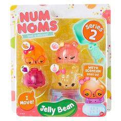 <P>Heard all of your friends talking about Num Noms<FONT size=3>™ </FONT>but haven't jumped on the Num Noms band wagon yet? This starter pack is the perfect way to get involved. Featuring the series 2 scented Jelly Bean characters including orange, bubble gum, grape and cup cake! Also includes a moving Num Nom™! </P><P><STRONG>Toy Set</STRONG> by <STRON...