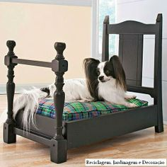 Best DIY Furniture Transformations - site doesn't provide step by step instructions, but if you know how to build, this dog bed made from pieces of a chair will give you the inspiration to make one.  I have seen cute dog beds made out of repurposed end tables, but this is a first out of a wooden dining chair.  Cute!