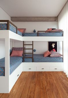 Bunkhouse Plans 444800900697053162 - Casa Fazenda Boa Vista – Picture gallery Source by Home Room Design, Diy Bunk Bed, Home, Home Bedroom, Small Room Bedroom, Bed, Bunk Beds Built In, Bed Plans, Dream Rooms