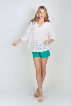 Love this blouse for summer. Annie Griffin Kate Blouse