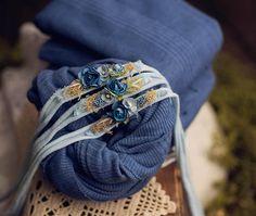 newborn stretch wrap and tieback blue floral organic