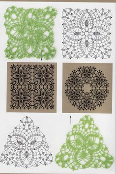 Crochet Knitting Handicraft: motif mill and other Filet Crochet, Crochet Diagram, Crochet Chart, Thread Crochet, Irish Crochet, Crochet Stitches, Crochet Motif Patterns, Crochet Blocks, Square Patterns