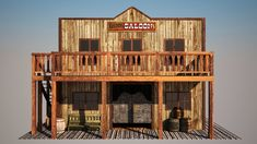 Old West Saloon, Western Saloon, Hotels With Balconies, Old West Town, Camping Survival, Miniature Houses, General Store, Ghost Towns, Wild West