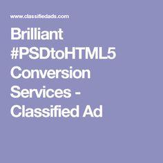 Brilliant #PSDtoHTML5 Conversion Services - Classified Ad