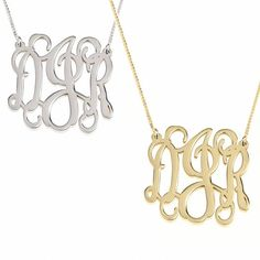 Hey, I found this really awesome Etsy listing at https://www.etsy.com/il-en/listing/262695918/monogram-initial-necklace-curly-split