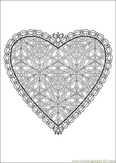 valentine's coloring pages | Coloring Pages Valentine Day Coloring 39 (Holidays > Valentine's Day ...