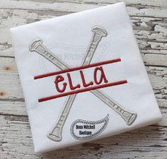 Split Batons applique embroidery design by BeauMitchellBoutique