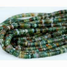 "1pcs green jade Gemstone Loose bead 15/"" Lots Wholesale Spacer DIY Charm Natural"