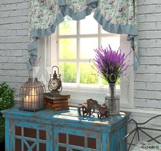 Provence Style Interior Composition By Window Stock Illustration 556448506 French Country Style, Rustic Style, Provence Interior, Macrame Plant Holder, Provence Style, Touch Of Gold, Exposed Brick, Best Interior Design, Luxury Home Decor