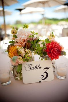 Table Number Idea {e photography} #weddings
