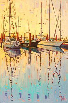 """Still Morning,"" by René Wiley by Rene' Wiley Gallery Oil ~ 30 x 20"