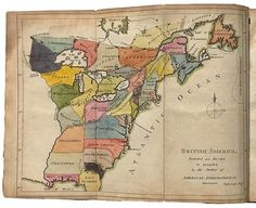 Map Showing An Early Plan To Divide The American Colonies, 1775.