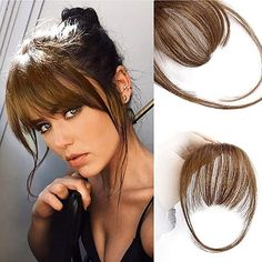 Fringe Hairstyles, Hairstyles With Bangs, Hairstyle Ideas, Hair Ideas, Haircuts, Clip In Fringe, Hair Toupee, Real Human Hair Extensions, Extensions Hair