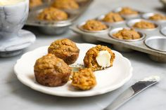 Lunchbox Harvest Muffins - filled with zucchini, apple, and carrots. (sub some oil for unsweetened applesauce)