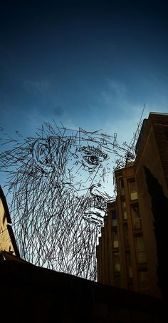 "SkyArt :  French artist Thomas Lamadieu creates his ""sky art"" by combining photography and line drawings."