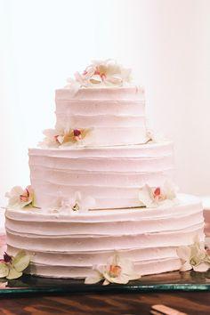Gorgeous pink wedding cake