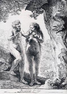 Rembrandt. Adán y Eva. 1638