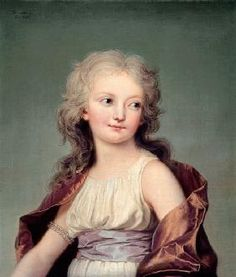 Adolf Ulrich Wertmuller - Portrait of Marie-Therese Charlotte of France (1778-1851) Duchess of Angouleme