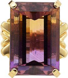 Estate Jewelry:Rings, Ametrine, Gold Ring. ...