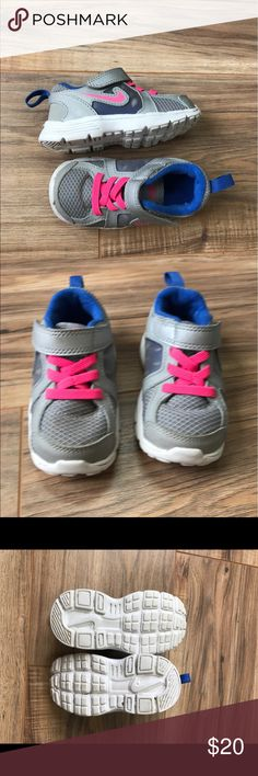 Girls Nike size 6C shoes 💗 EUC Worn one time. Nike Shoes Sneakers