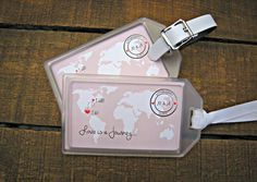 Luggage Tag Favors for Destination Weddings  by MailmansDaughter
