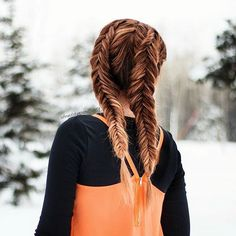 Dutch Fishtail Pigtail Braids on Myself - a great DIY style for women and girls with long hair. These give me all the vibes! Fishtail Hairstyles, Bohemian Hairstyles, Summer Hairstyles, Pretty Hairstyles, Everyday Hairstyles, Dutch Pigtail Braids, Dutch Fishtail Braid, Full Hair, Love Your Hair