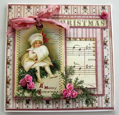 Old Fashioned Christmas Card...Riddersholm Design.