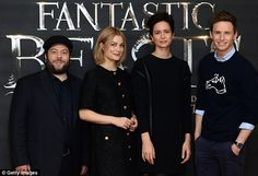 """redbatchedcumbermayned: """"More photos from today's press event for Fantastic Beasts and Where to Find Them in London """""""