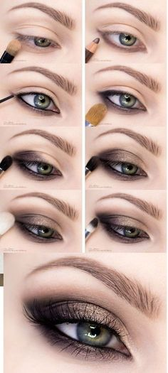 Prom Nails Grey Did you ever try any of these smokey eye makeup looks? Now, It& - - Prom Nails Grey Did you ever try any of these smokey eye makeup looks? Now, It& not hard to get beautiful smokey eyes if you read these 10 smokey. Smokey Eye Makeup Look, Eye Makeup Steps, Natural Eye Makeup, Eyeshadow Makeup, How To Smokey Eye, Simple Smokey Eye, Makeup Brushes, Smokey Hair, Grey Smokey Eye