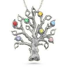 Family Tree Birthstone Pendant #jewlr
