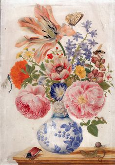 Chinese vase with Roses, Poppies, and Carnations, c. 1670–80.