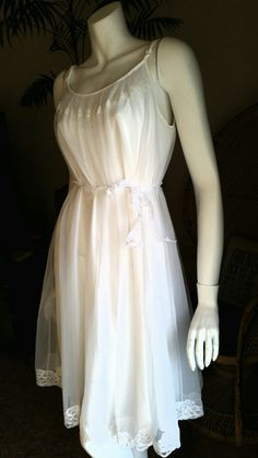 1950's Shadowline Bridal Nightgown White by CharmstruckVintage #GotVintage #Vintage   #Clothing #Fashion