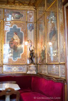 Interior of Caffe Florian, Venice, by Georgianna Lane