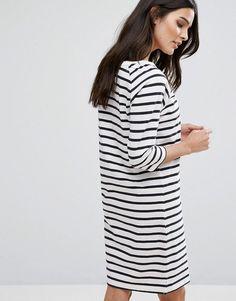 Selected Stripe Dress - Multi