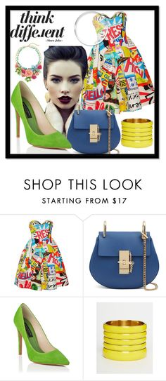 """Different "" by tornmer ❤ liked on Polyvore featuring Moschino, ASOS, GetTheLook, outfit, girly and polyvorecontest"