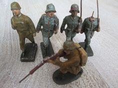 Lineol Massefiguren 5 Soldaten Wehrmacht Bellum Leyla Ellastolin   eBay