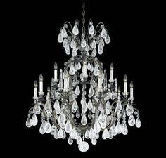 Schonbek Versailles 15 Light Rock Crystal Chandelier