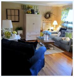 the corson cottage: Quaint Country Cottage ~ Living Room Update at my Moms