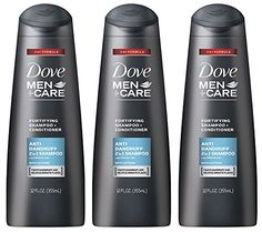 Dove Men  Care Haircare  Anti Dandruff  2 in 1 Shampoo  Conditioner  Net Wt 12 FL OZ 355 mL Per Bottle  Pack of 3 Bottles ** Find out more about the great product at the image link.(This is an Amazon affiliate link and I receive a commission for the sales)