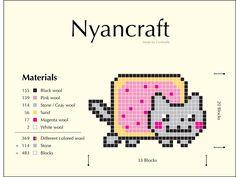 nyan cat granny square pattern/chart