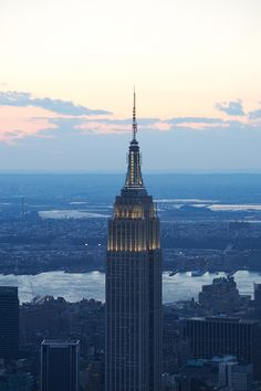 The Empire State Building is the most Instagrammed place in New York state! Read more at https://www.busbud.com/blog/top-instagrammed-locations/.