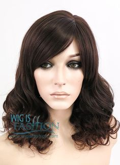 """14"""" Medium Curly 2 Tone Brown Fashion Synthetic Hair Wig NW032"""