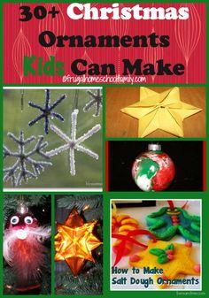 30+ Christmas Ornament Ideas #DIY #crafting #holidays